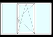 Окно пластиковое,  S8000 (74mm),  Белый - 2320*1410