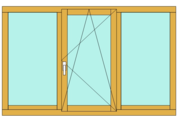 Окно деревянное,  Сосна IV-68 (68mm)-2300*1450