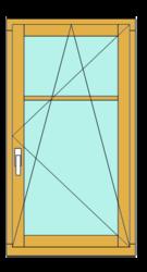 Окно деревянное,  Сосна IV-78 (78mm)