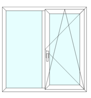 Окно пластиковое,  S8000 (74mm)-1460*1410
