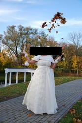 Продам свадебное платье ( цвет- шампанского)